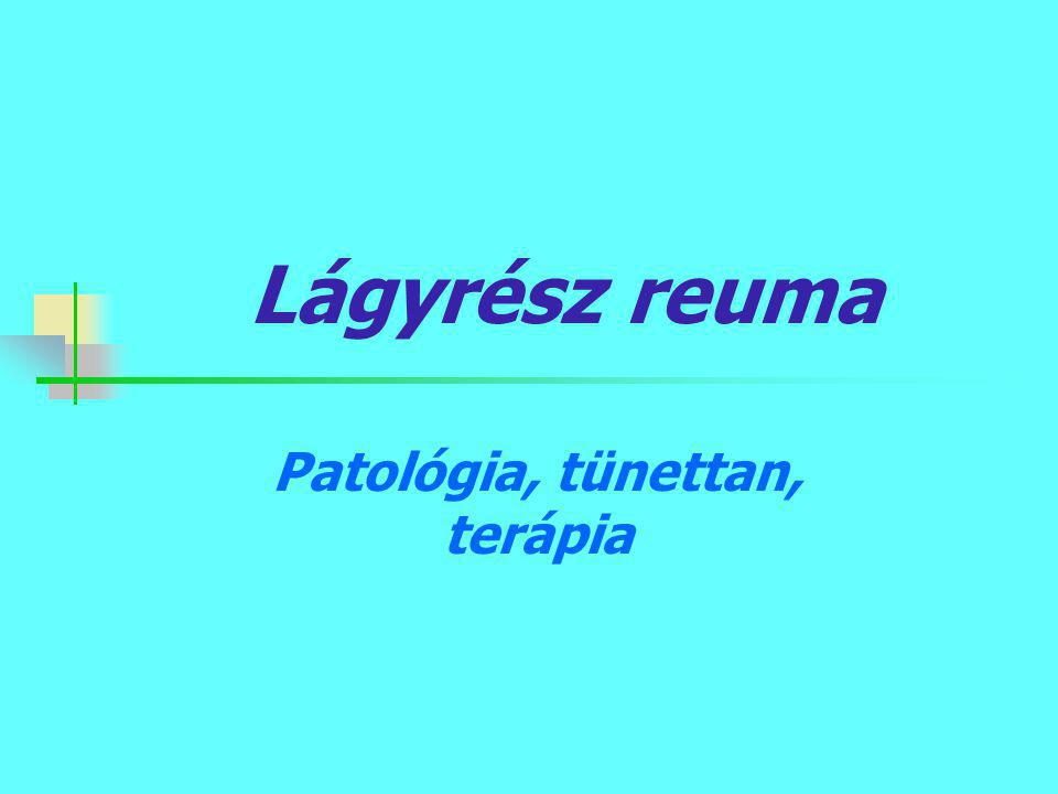 Lágyrész reuma Patológia, tünettan, terápia