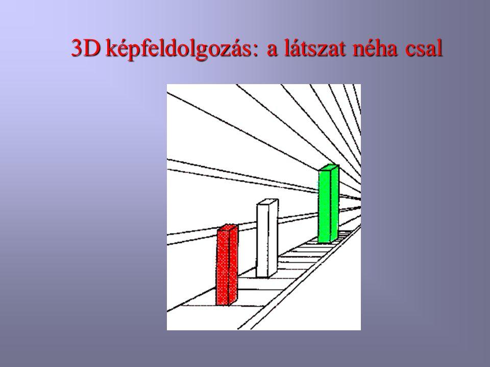 3Dképfeldolgozás: a látszat néha csal 3D képfeldolgozás: a látszat néha csal
