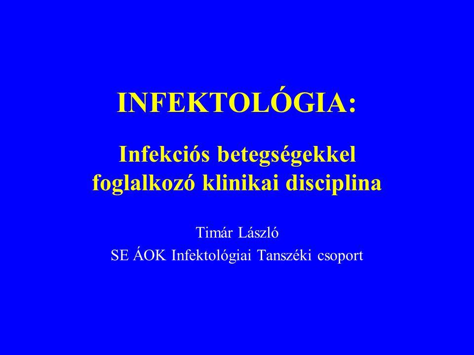 Néhány újabban felbukkant kórokozó, korábban ismeretlen betegség Legionella pneumophila(1977)  Legionellosis S.