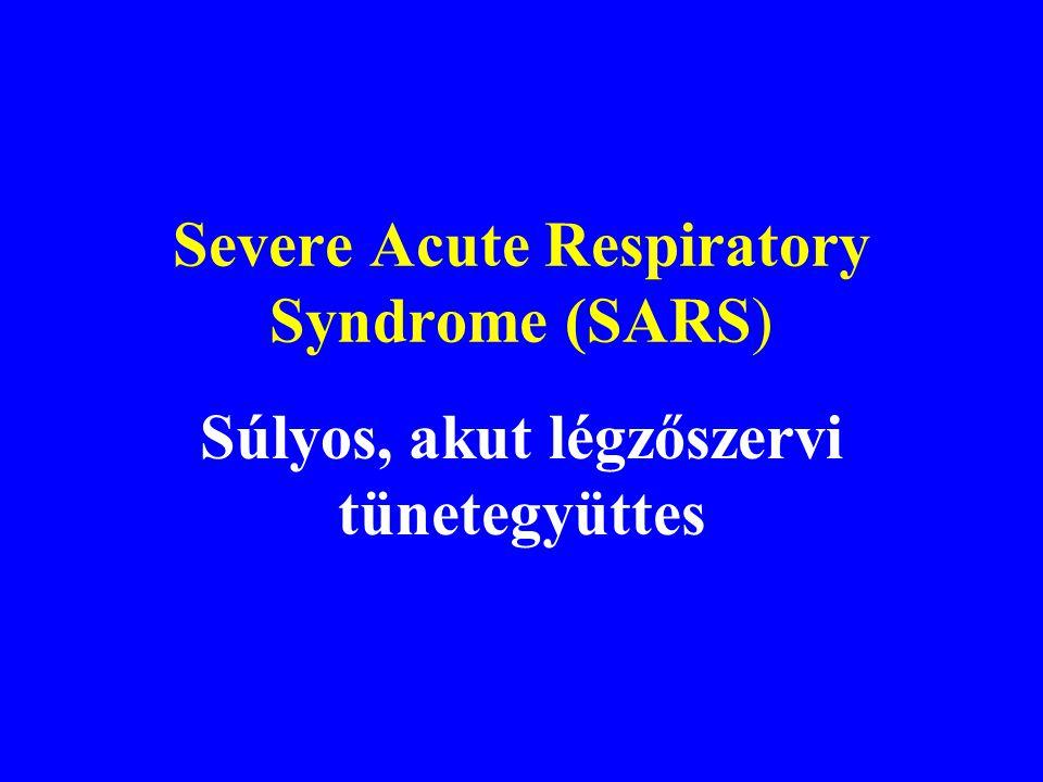 Világjárvánnyal fenyegető, újabban felbukkant légúti vírusfertőzések Influenza –Madárinfluenza Súlyos akut légúti szindróma (SARS-CoV) Közép-keleti lé