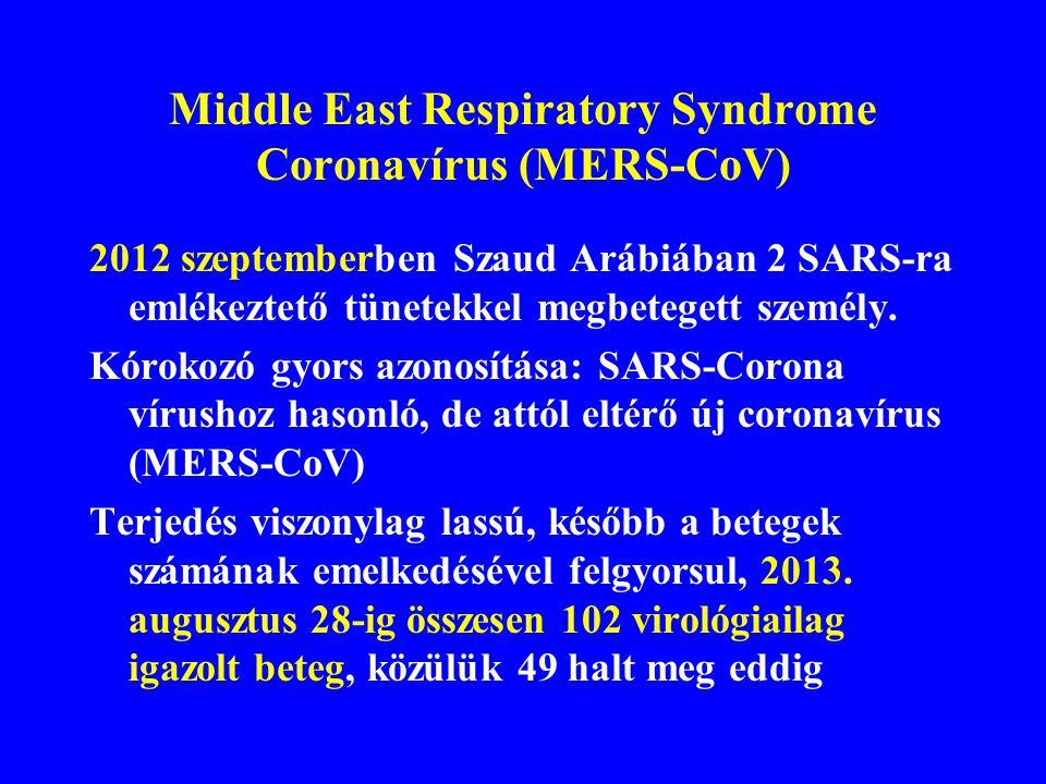 Közép-keleti légzőszervi betegség Middle East Respiratory Syndrome (MERS)