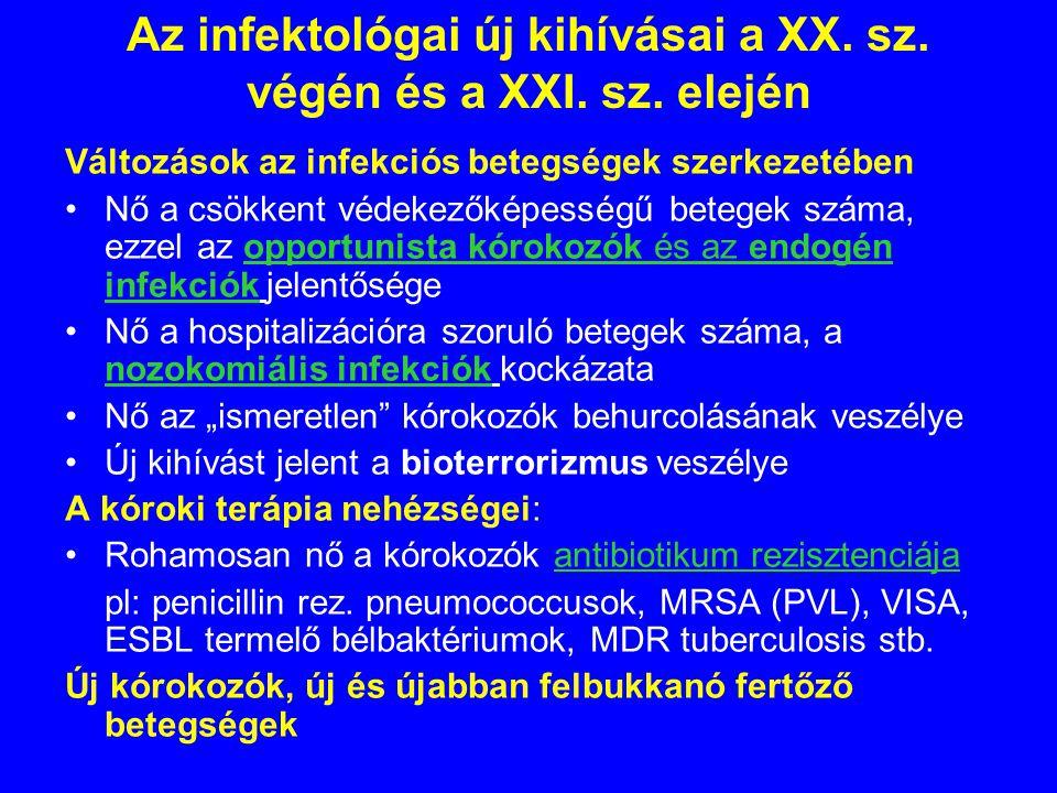 Az infektológai új kihívásai a XX.sz. végén és a XXI.