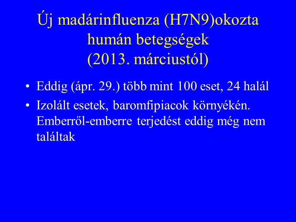 Összefoglalás Jelenleg az Avian Influenza A (H5N1) zoonozis, emberről emberre nem terjed Sok vonatkozásban eltér a humán influenza vírusok okozta fert