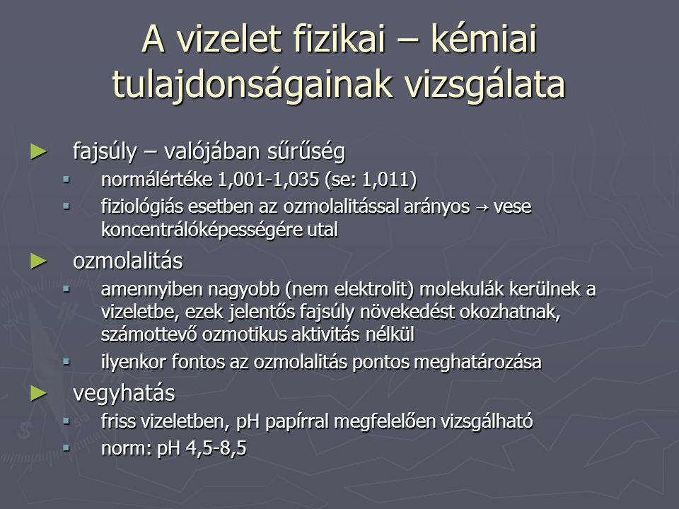 Proteinuria ► minimális filtráció mellett jó része visszaszívódik, így a fiziológiás proteinuria <150 mg/d ► pathológiás proteinuia oka lehet: vesebetegs é g → glomerulus membr á n k á rosod á s → fehérjefiltráció ↑ → tubularis rezorpció nem képes eltüntetni.vesebetegs é g → glomerulus membr á n k á rosod á s → fehérjefiltráció ↑ → tubularis rezorpció nem képes eltüntetni.