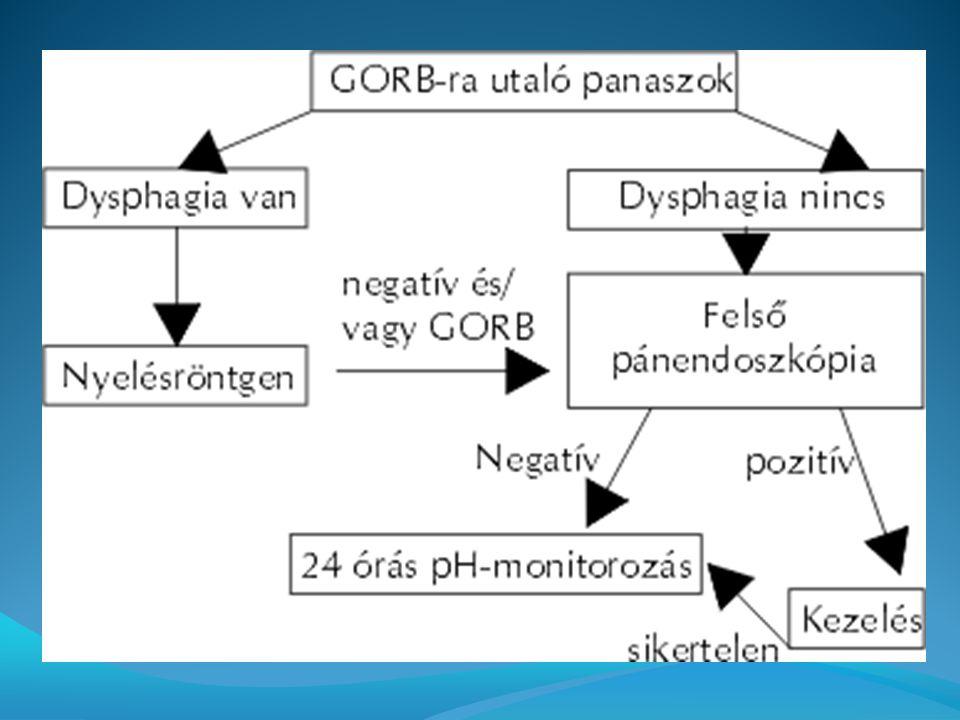 Oesophagoszkopia 60–70%-ánál látható makroszkópos elváltozás a nyelőcső nyálkahártyáján.