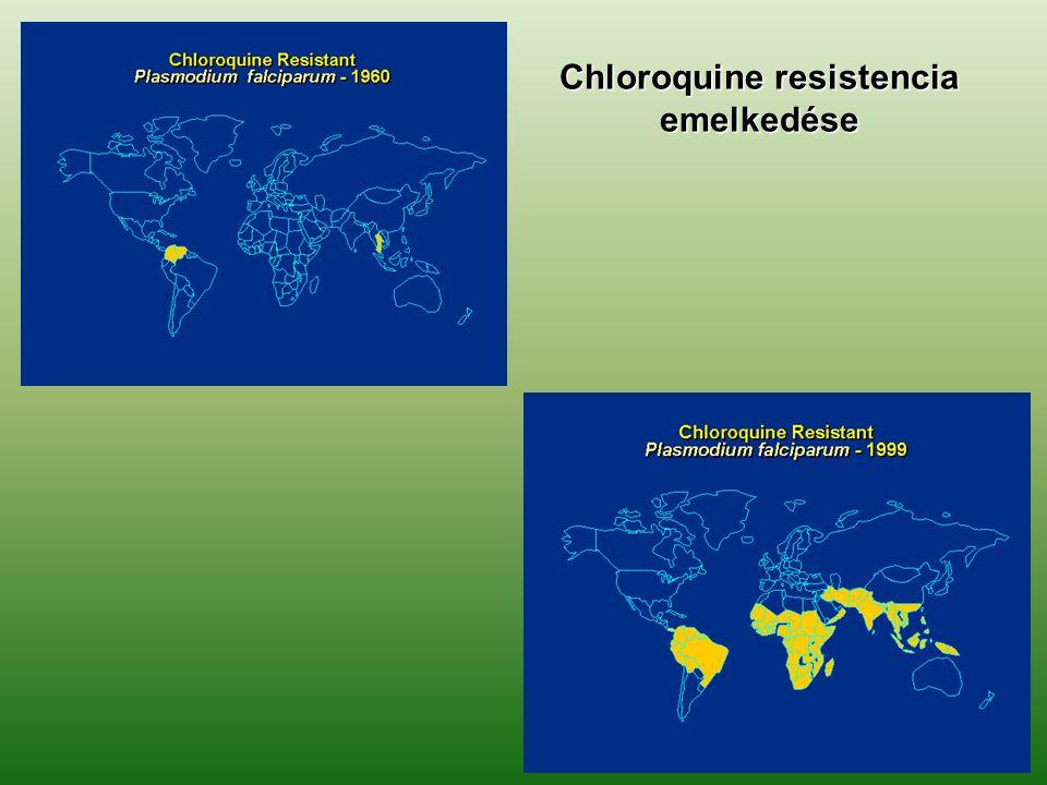 Chloroquine resistencia emelkedése