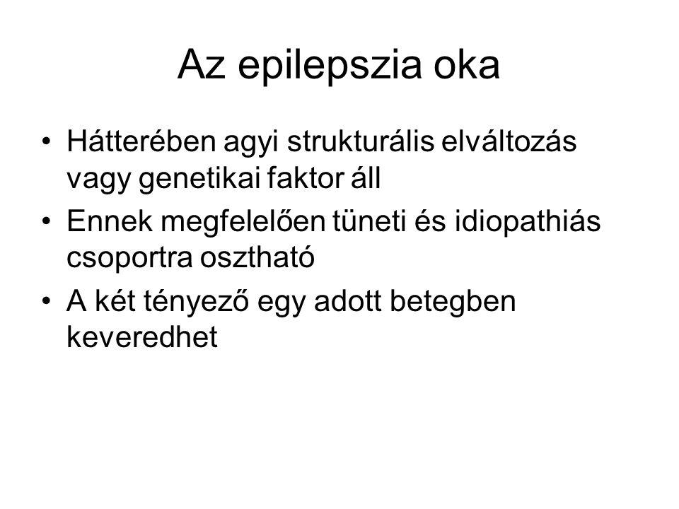 Az epilepszia oka Hátterében agyi strukturális elváltozás vagy genetikai faktor áll Ennek megfelelően tüneti és idiopathiás csoportra osztható A két t