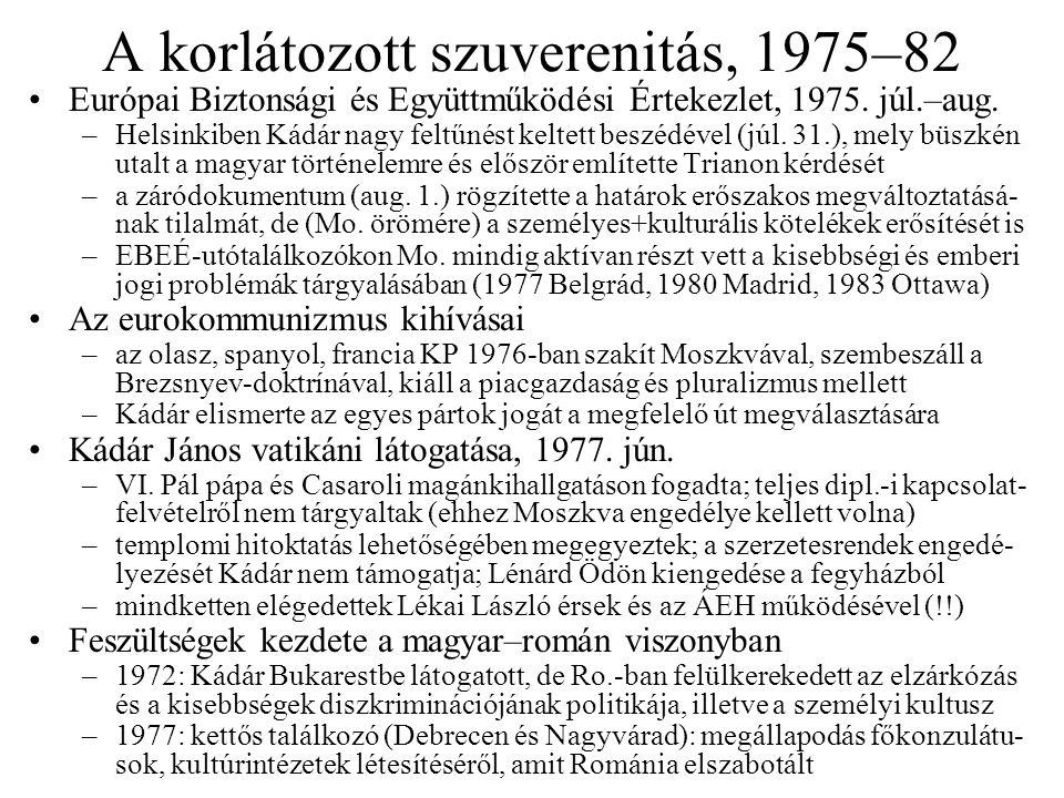 A korlátozott szuverenitás, 1975–82 Európai Biztonsági és Együttműködési Értekezlet, 1975.