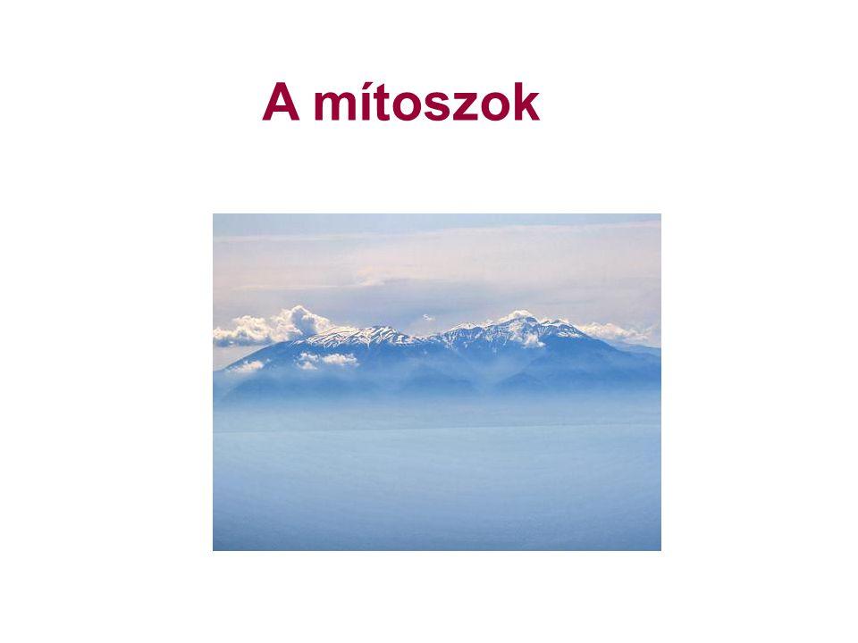 A görög mítoszok keletkezése: több ezer évvel ezelőtt Politeizmus: sokistenhit Monoteizmus: egyistenhit Mítosz: istenekről, csodás lényekről, term.