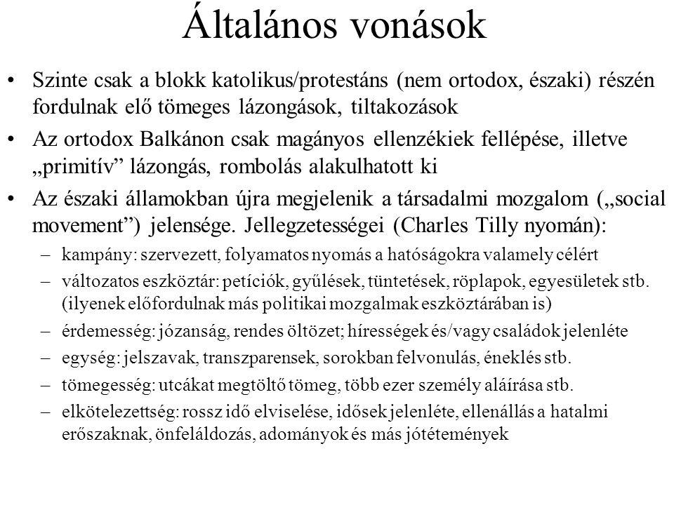 Áttekintő kronológia 1953: megmozdulások Csehországban (főleg Plzeň-ben), ill.