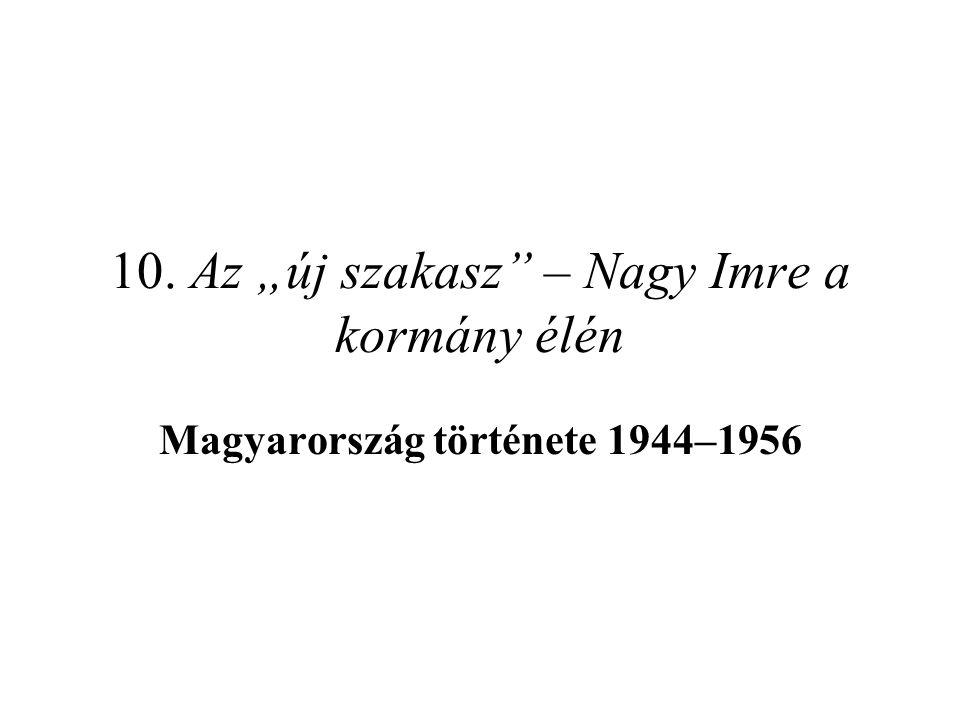 """10. Az """"új szakasz"""" – Nagy Imre a kormány élén Magyarország története 1944–1956"""