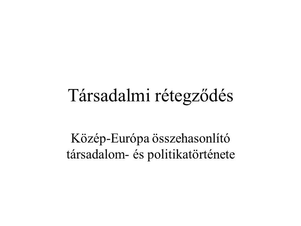 Társadalmi rétegződés Közép-Európa összehasonlító társadalom- és politikatörténete