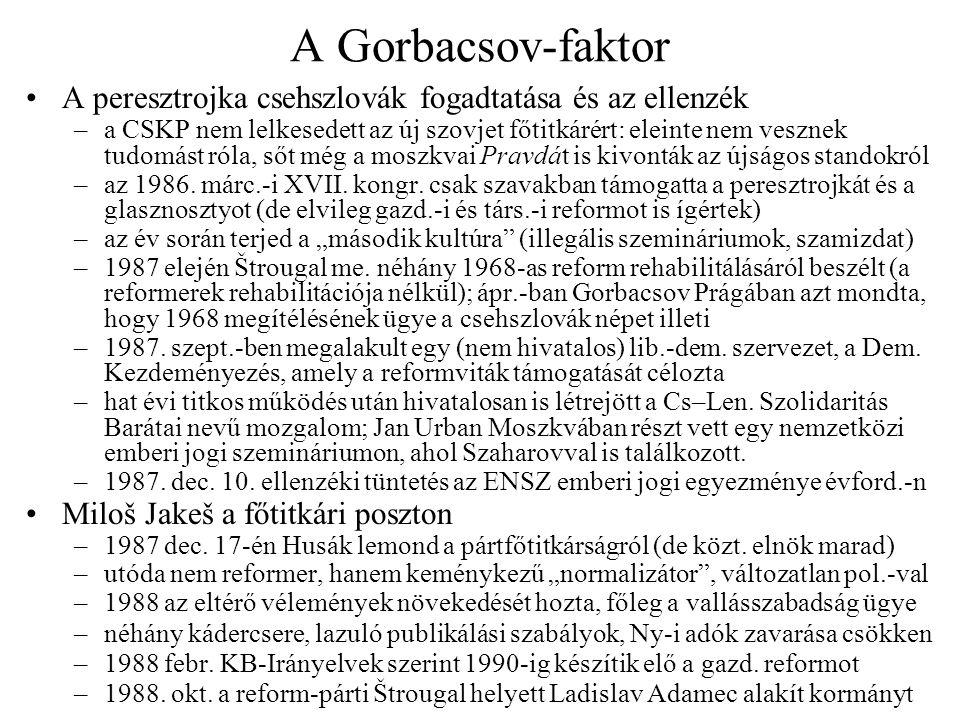 Szaporodó tüntetések és kései reformterv 1988: többezres ellenzéki tüntetések –márc.