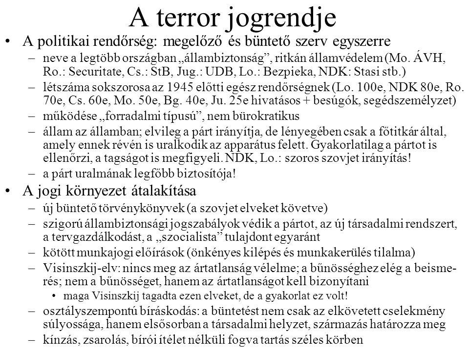 """A terror jogrendje A politikai rendőrség: megelőző és büntető szerv egyszerre –neve a legtöbb országban """"állambiztonság , ritkán államvédelem (Mo."""