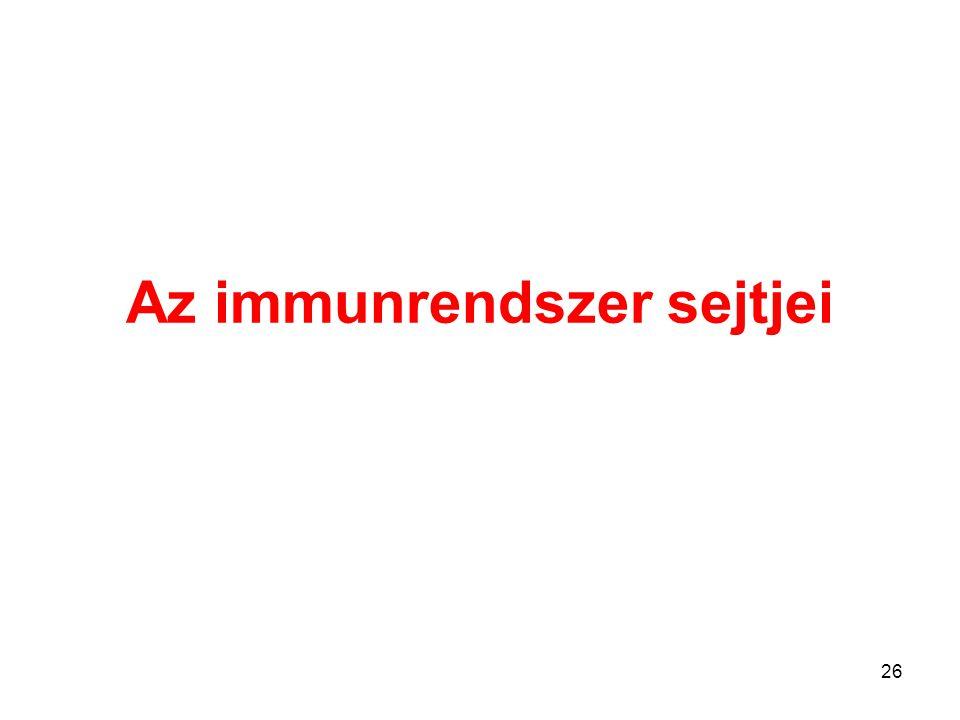26 Az immunrendszer sejtjei