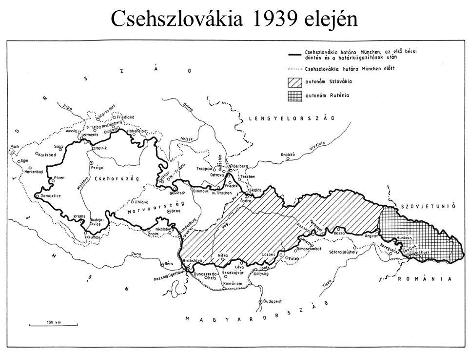 Csehszlovákia 1939 elején