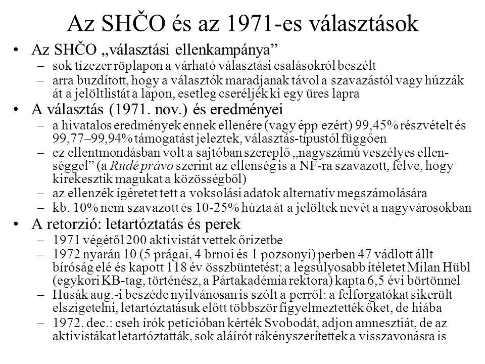 A represszió növekedése A büntetőjogszabályok újabb szigorítása, 1973.