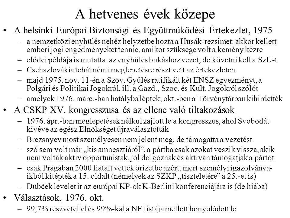 """""""Abszurdisztán – írók, zenészek ügyei Az irodalmi élet elnyomása –a normalizáció idején az Írószövetség tagjainak 2/3-t zárták ki –1969–71 között egyetlen irodalmi–kulturális lap sem jelent meg (!) –az emigrációban Milan Kundera és Josef Skvorecký alkotott –a hazai írók, pl."""