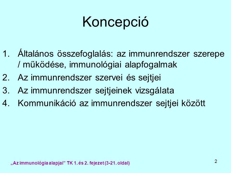 3 Az immun-szervrendszer feladata 1.A szervezet identitásának fenntartása 2.Saját  idegen versus veszélyes  veszélytelen 3.Idegen anyag felismerése  immunválasz  1) elimináció 2) immuntolerancia [3) ignorancia] Az immun-szervrendszer jellemzői 1.Specifitás 2.Szenzitivitás 3.Memória 4.Szelektivitás