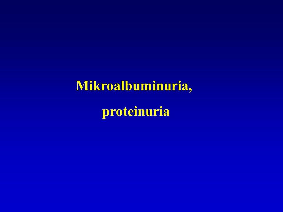 Mikroalbuminuria, proteinuria