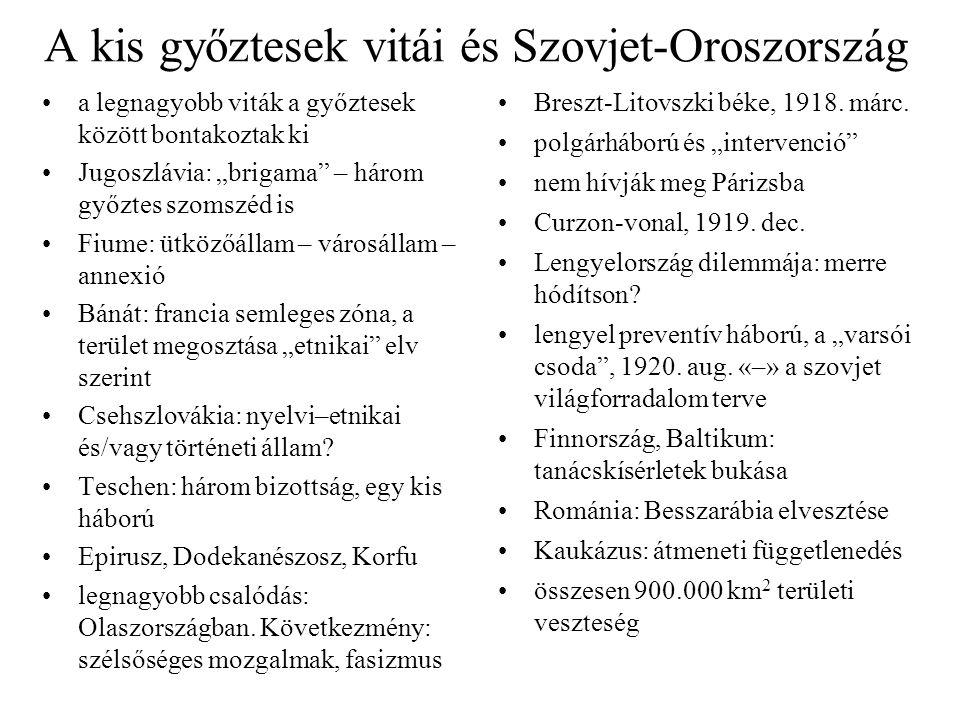 """A kis győztesek vitái és Szovjet-Oroszország a legnagyobb viták a győztesek között bontakoztak ki Jugoszlávia: """"brigama"""" – három győztes szomszéd is F"""