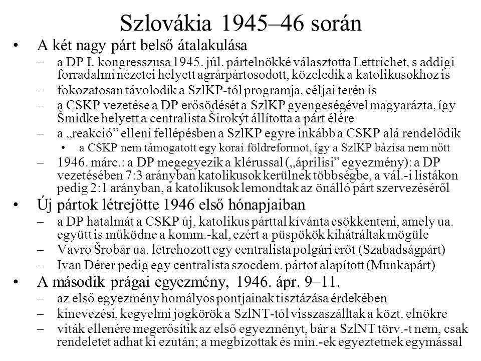 Perek a Nemzeti Bíróság előtt Nem foghatták már perbe… –a halott Heydrichet, az öngyilkos Henleint és Emanuel Moravecet, illetve –a börtönben 1945.