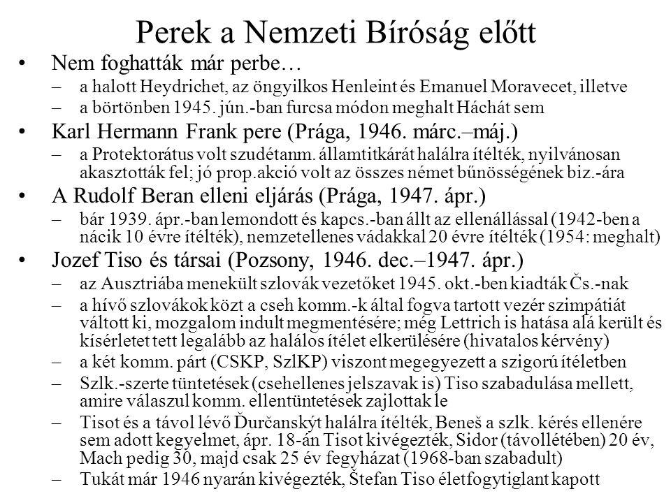 Az 1946.májusi választások A cseh pártok önmeghatározása 1946 elején –CSKP VIII.