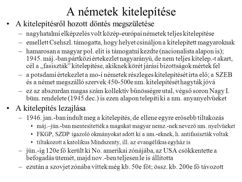 Csehszlovák–magyar lakosságcsere Tárgyalás és megegyezés –Čs.
