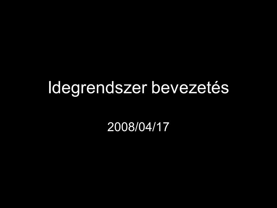 Idegrendszer bevezetés 2008/04/17
