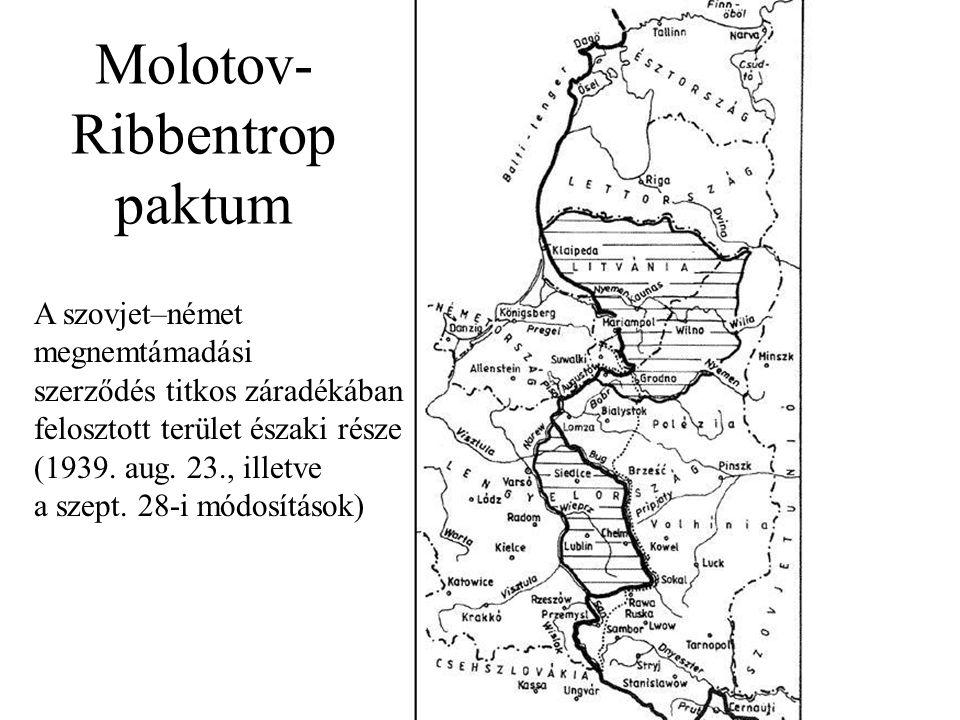 A szovjet–német megnemtámadási szerződés titkos záradékában felosztott terület északi része (1939.