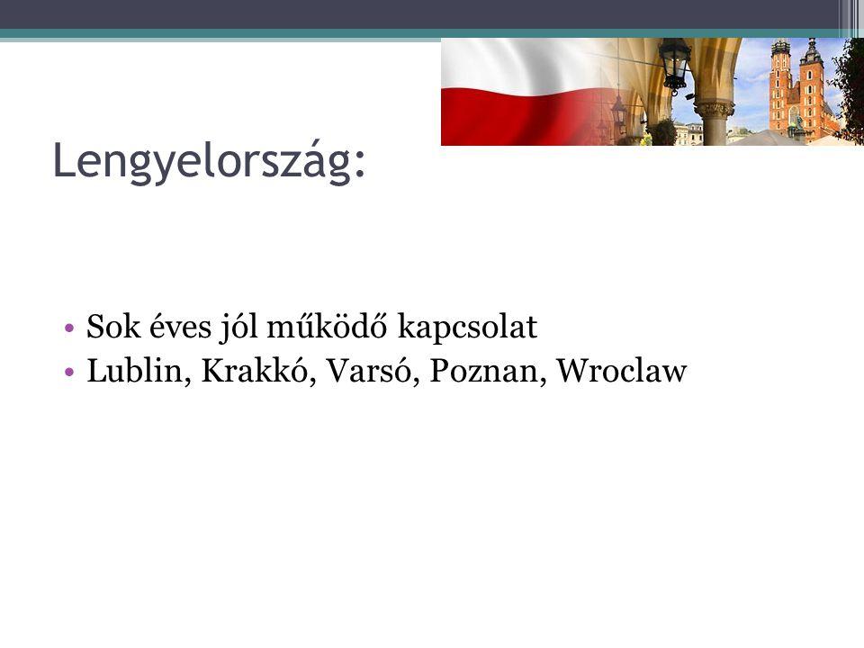 Lengyelország: Sok éves jól működő kapcsolat Lublin, Krakkó, Varsó, Poznan, Wroclaw