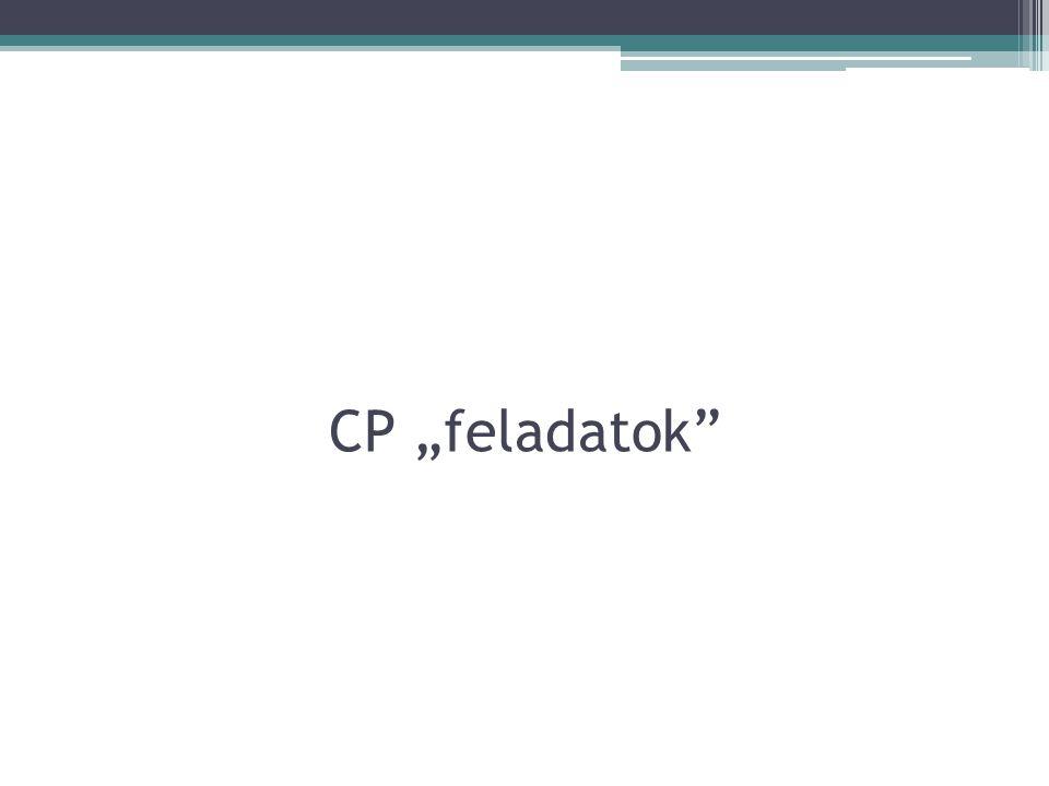 "CP ""feladatok"""