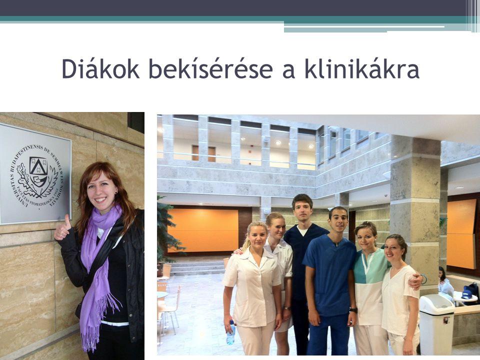 Diákok bekísérése a klinikákra