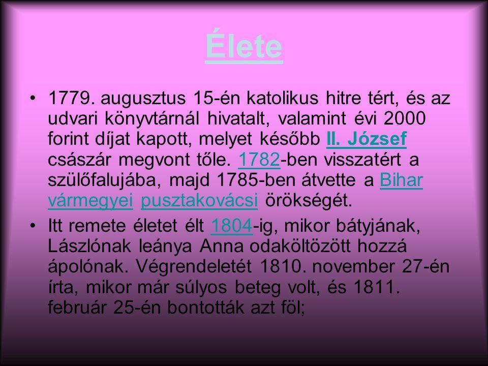 Élete 1779.