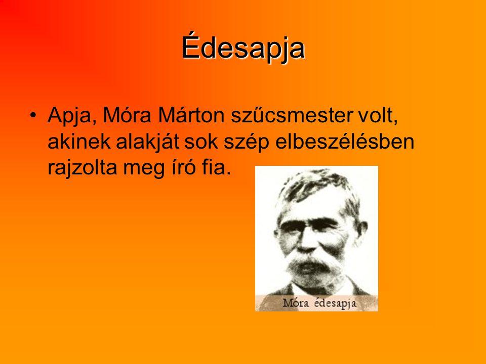 Édesapja Apja, Móra Márton szűcsmester volt, akinek alakját sok szép elbeszélésben rajzolta meg író fia.