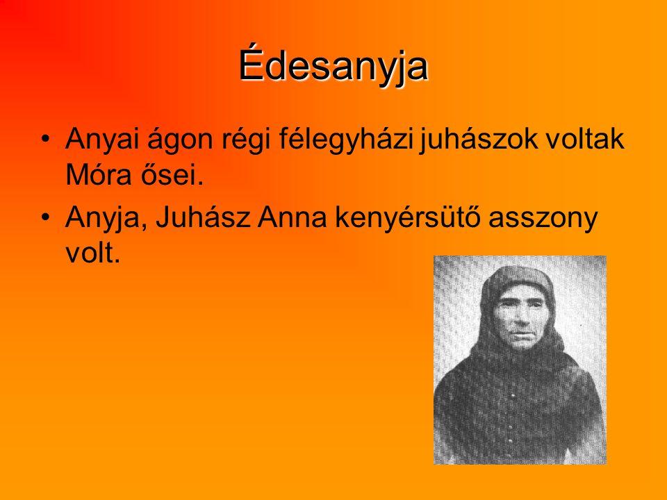 Édesanyja Anyai ágon régi félegyházi juhászok voltak Móra ősei. Anyja, Juhász Anna kenyérsütő asszony volt.