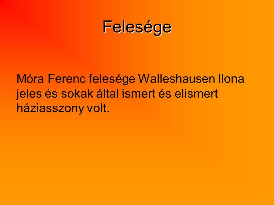 Felesége Móra Ferenc felesége Walleshausen Ilona jeles és sokak által ismert és elismert háziasszony volt.