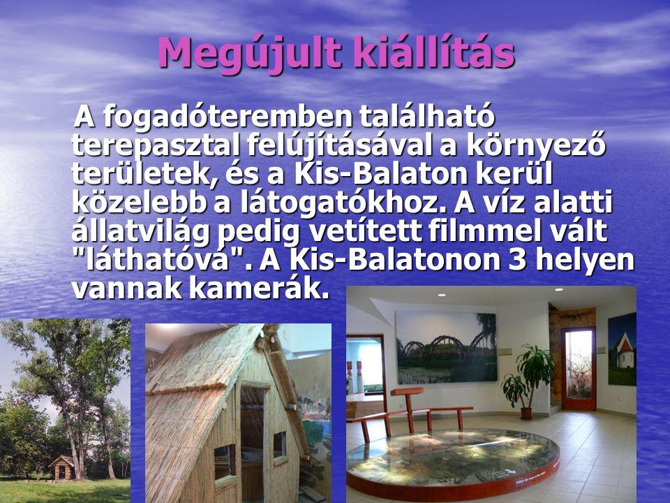 Megújult kiállítás A fogadóteremben található terepasztal felújításával a környező területek, és a Kis-Balaton kerül közelebb a látogatókhoz.