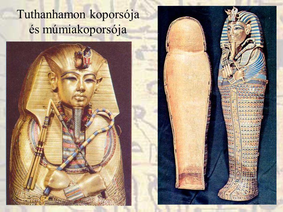 Tuthanhamon koporsója és múmiakoporsója