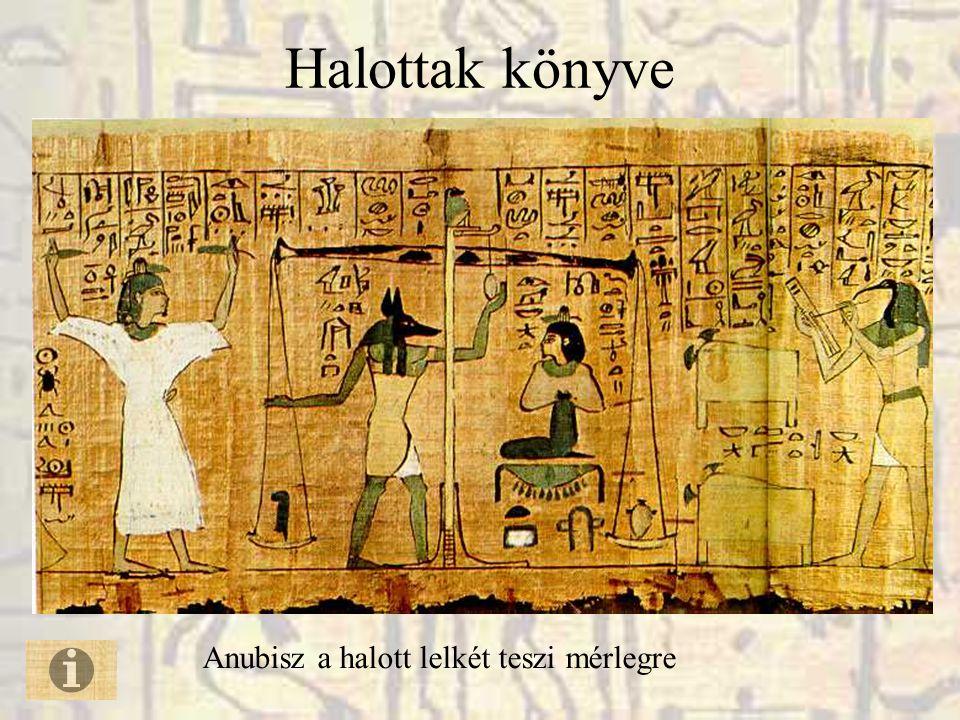 Halottak könyve Anubisz a halott lelkét teszi mérlegre