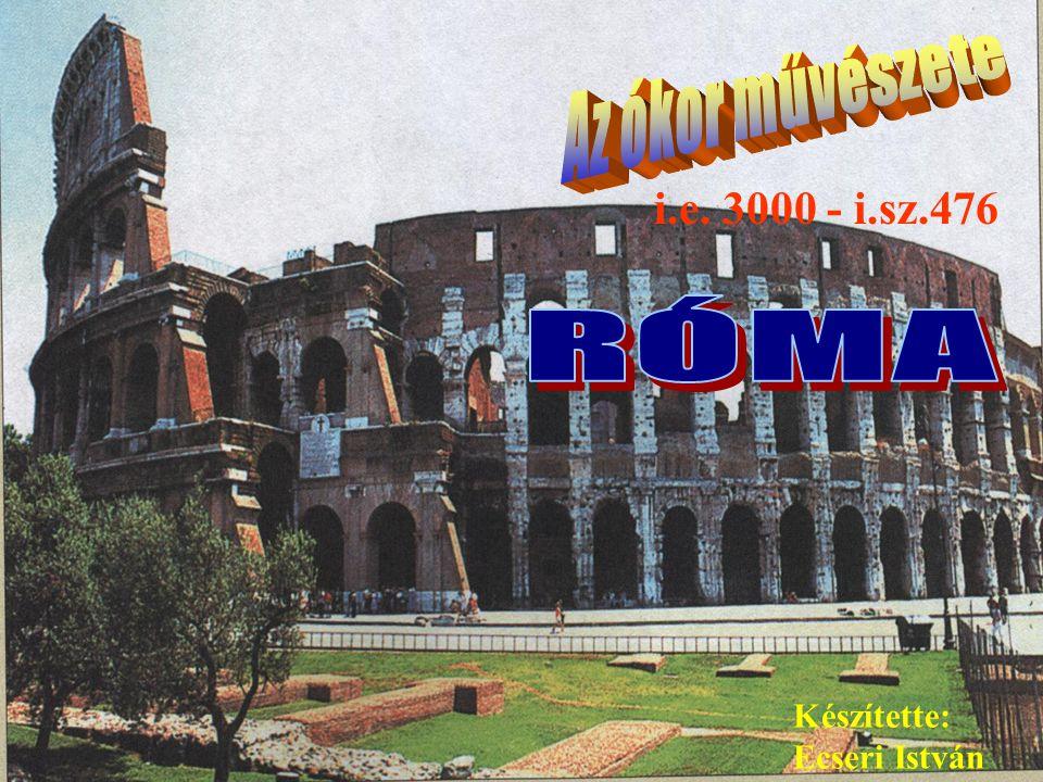 Ecseri ÓKORIKULTÚRÁKÓKORIKULTÚRÁK A római művészet vívmányai a diadal- oszlopok és diadalívek, amelyeket az uralkodó tiszteletére építettek Traianus oszlopa – i.sz.