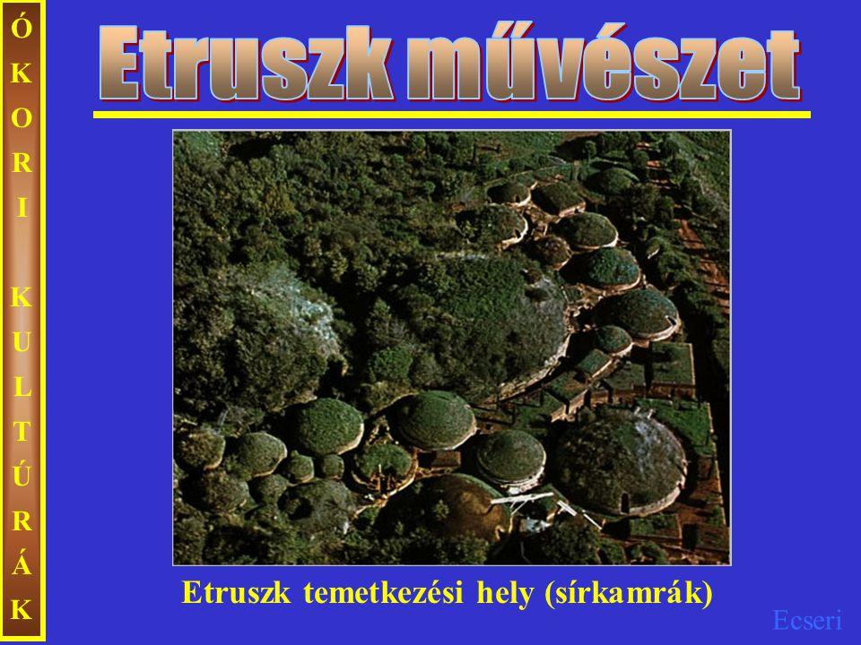 Ecseri Etruszk temetkezési hely (sírkamrák) ÓKORIKULTÚRÁKÓKORIKULTÚRÁK