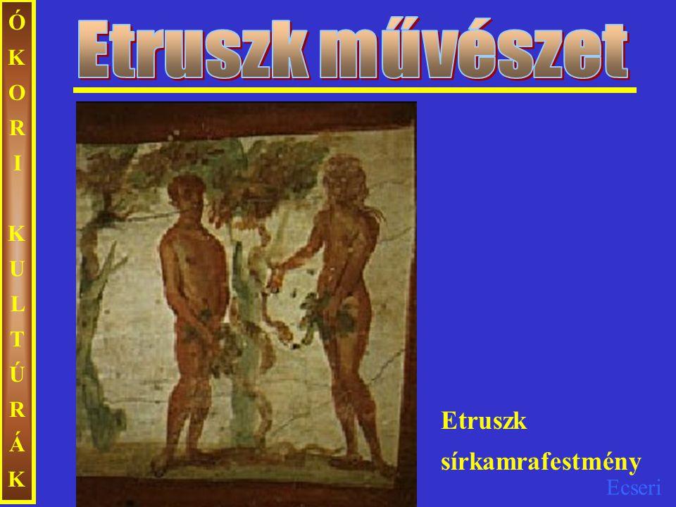 Ecseri ÓKORIKULTÚRÁKÓKORIKULTÚRÁK Itália középső részén több, egymással rokon nyelvű italicus törzs élt I.e.
