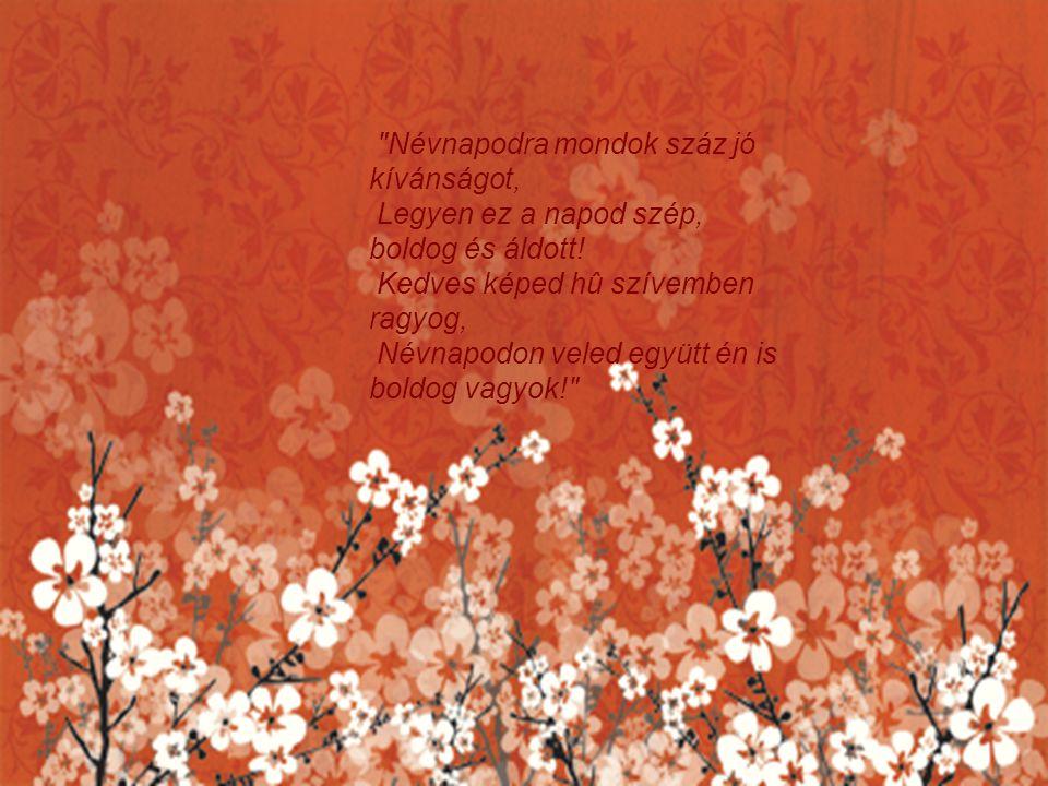 Névnapodra mondok száz jó kívánságot, Legyen ez a napod szép, boldog és áldott.