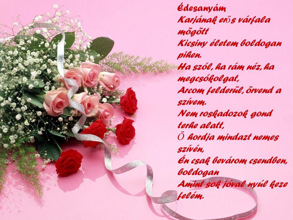 Sok boldogságot kívánok az édesanyáknak, nagymamáknak.