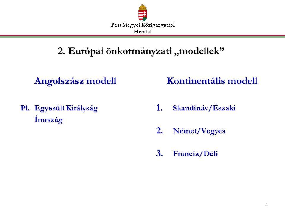 4 Angolszász modell Pl.Egyesült Királyság Írország Kontinentális modell 1.