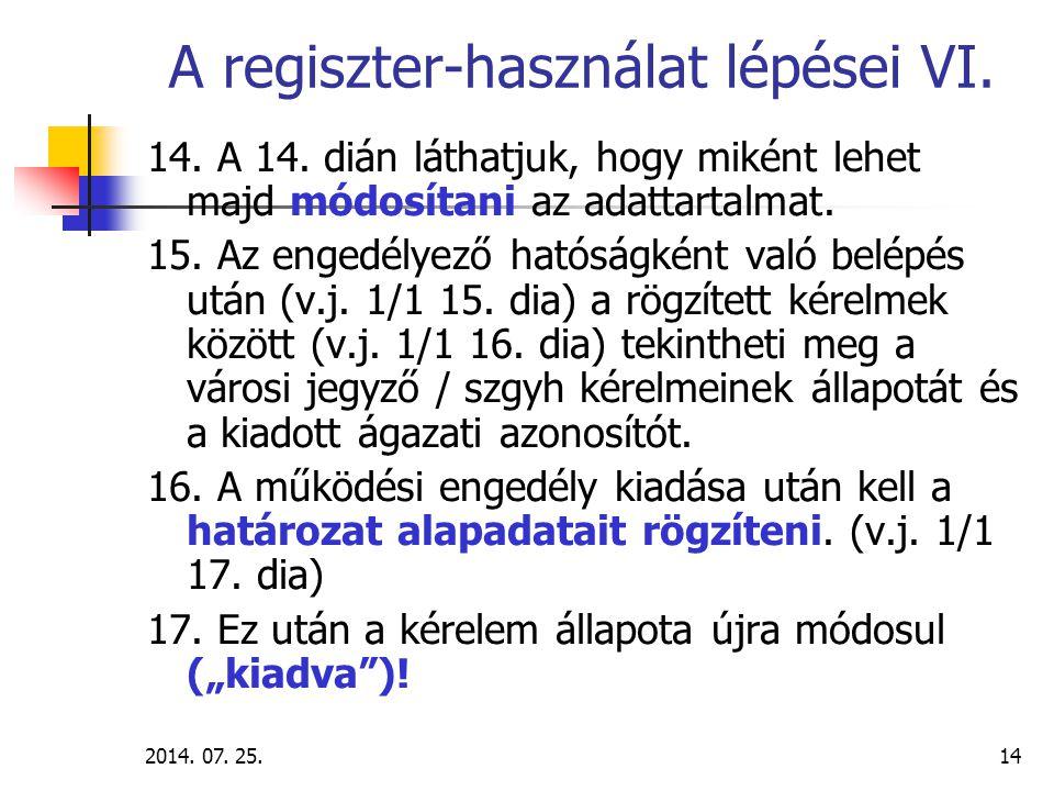 2014.07. 25.15 A regiszter használat lépései VII.