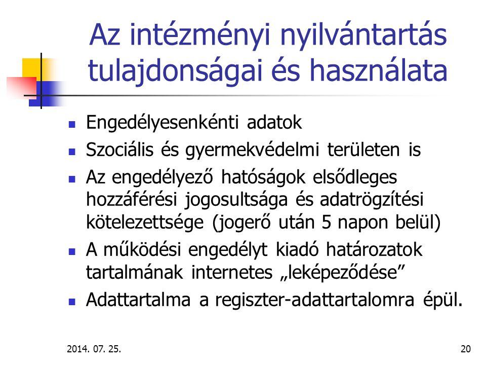 2014. 07. 25.21 FSZH jóváhagyja – jóváhagyva frissíteni kell