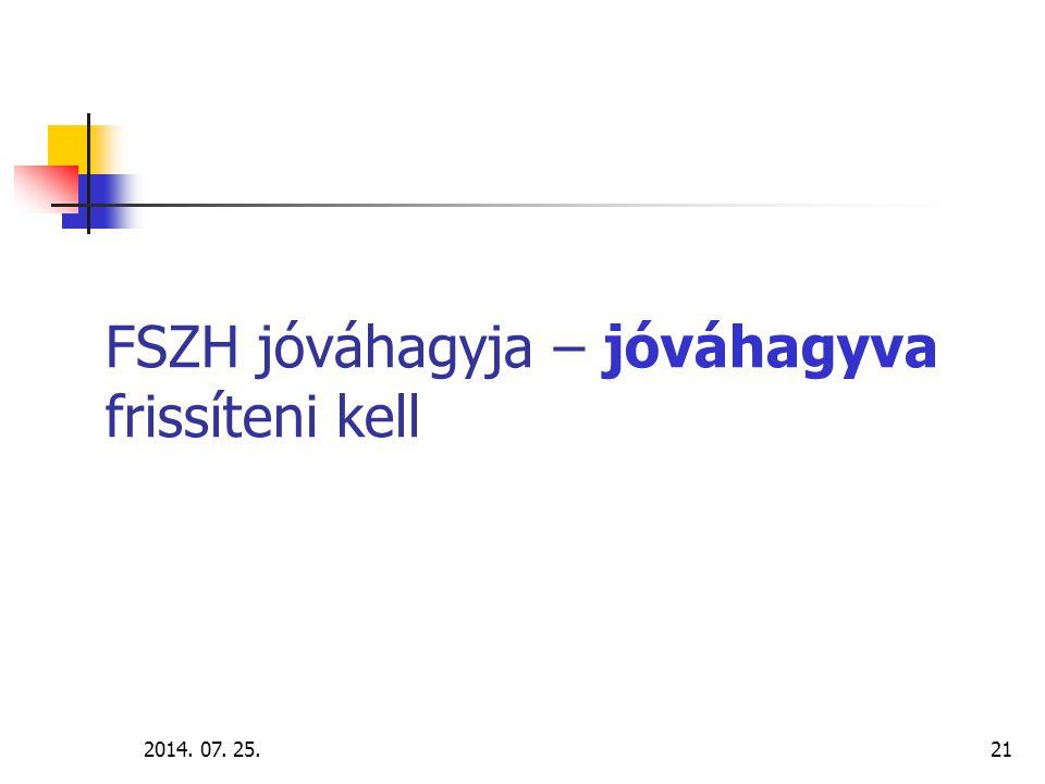 2014.07. 25.22 Az intézményi nyilvántartás használatának lépései I.