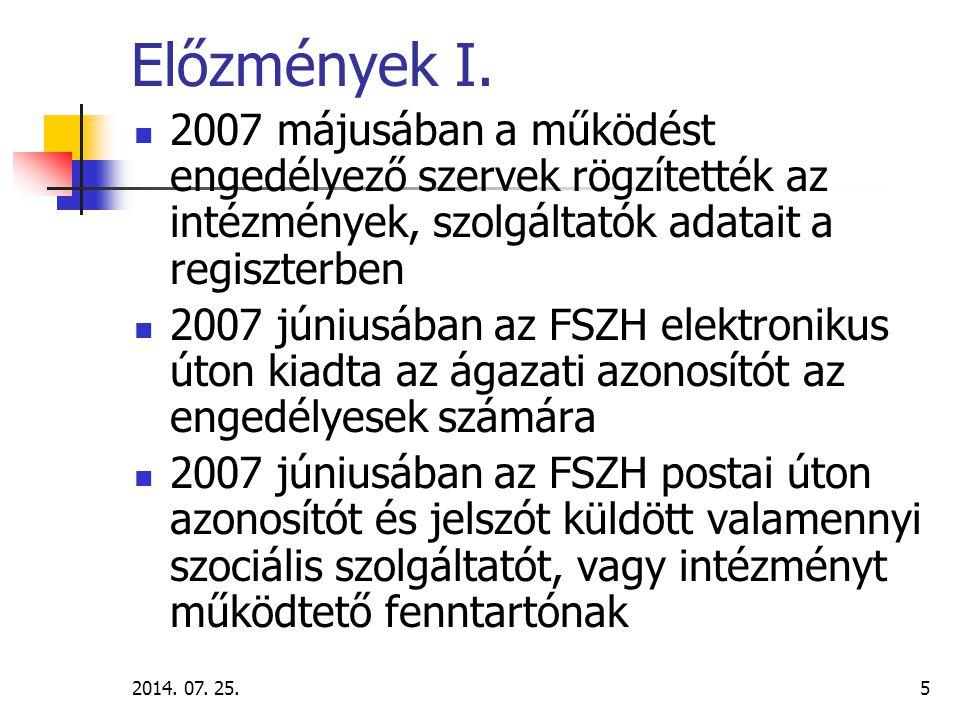 2014.07. 25.6 Előzmények II.